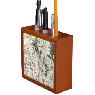 Antique Watercolor Coral Desk Organiser