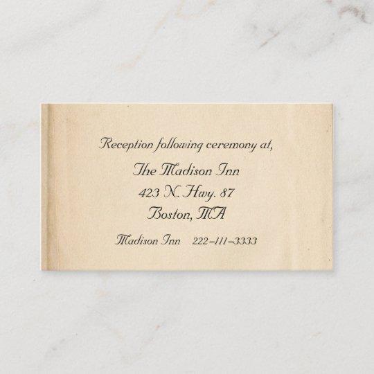mint and antique flourish wedding enclosure card