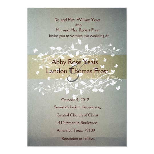 Antique Wedding Invitation