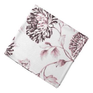 Antique White & Blush Pink Botanical Floral Toile Bandana
