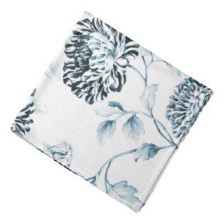 Antique White & Blush Teal Botanical Floral Toile Bandana