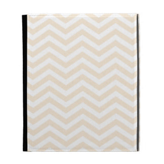 Antique White Chevron; zig zag iPad Folio Cover