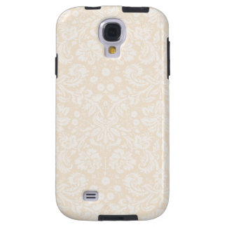 Antique White Damask Pattern Galaxy S4 Case
