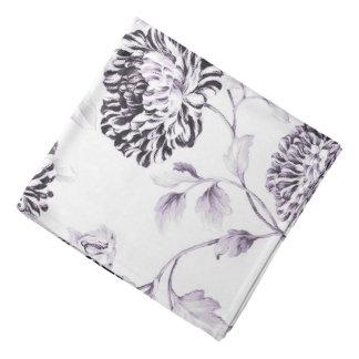 Antique White & Lilac Botanical Floral Toile Bandana