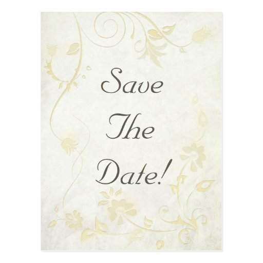 Antique White Vintage Save The Date Wedding Postcards
