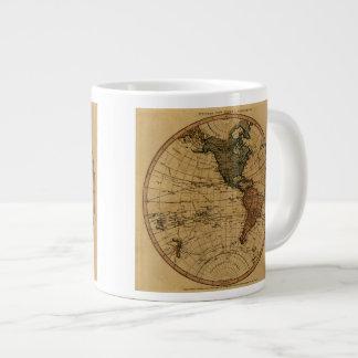 Antique William Faden 1786 Western Hemisphere Map Large Coffee Mug