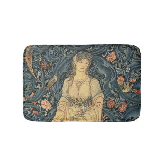 Antique William Morris Flora Bath Mat