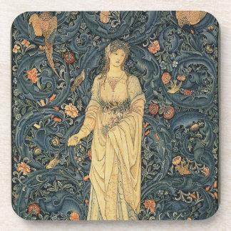 Antique William Morris Flora Beverage Coaster