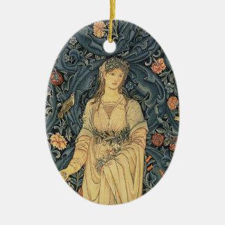 Antique William Morris Flora Ceramic Oval Decoration