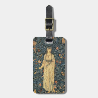 Antique William Morris Flora Custom Bag Tag