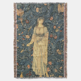Antique William Morris Flora Throw Blanket