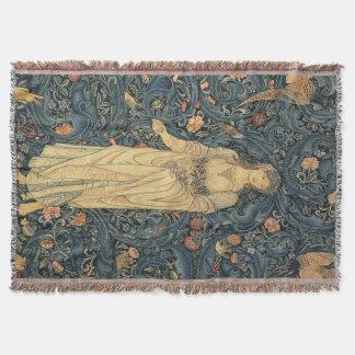 Antique William Morris Flora Throw Blanket