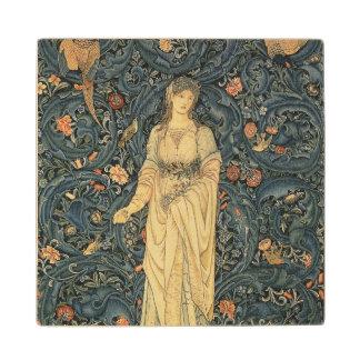 Antique William Morris Flora Wood Coaster