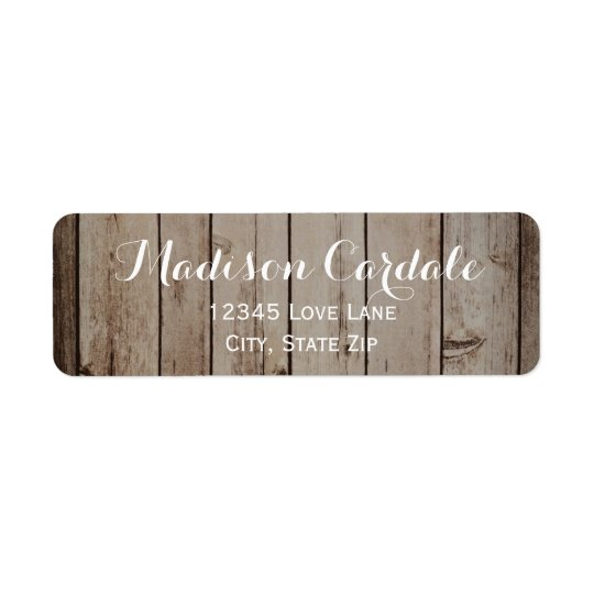Antique Wood Rustic Country Return Address Labels