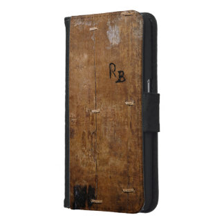 Antique Wood Samsung Galaxy S6 Wallet Case