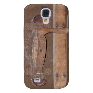 Antique Wood Trunk Buckle and Strap Galaxy S4 Case