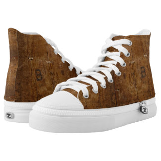 Antique Wood with (or without) Initials High Tops