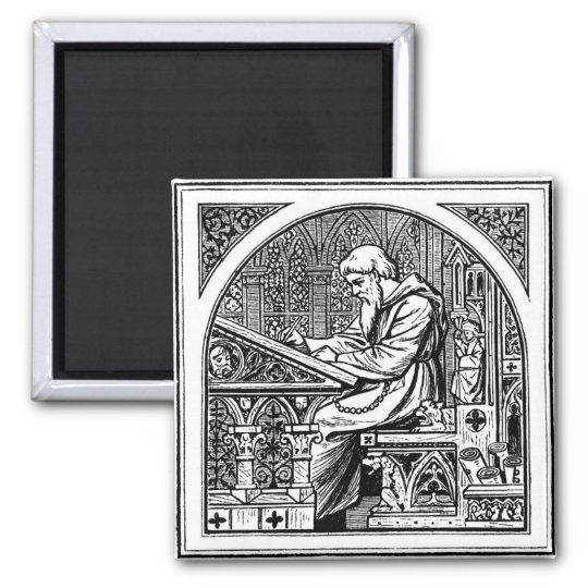 Antique woodcut magnet