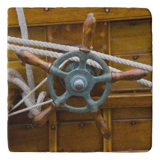 Antique Wooden Boat Trivet