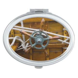 Antique Wooden Boat Vanity Mirror
