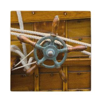 Antique Wooden Boat Wood Coaster