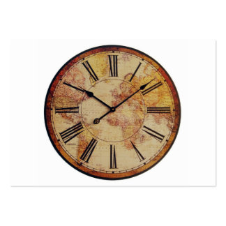Antique World Clock Face Pack Of Chubby Business Cards