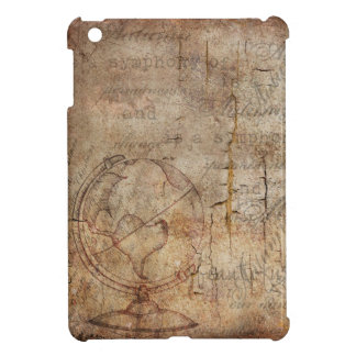 Antique World Globe Rustic Brown, Apple Mini Case iPad Mini Covers