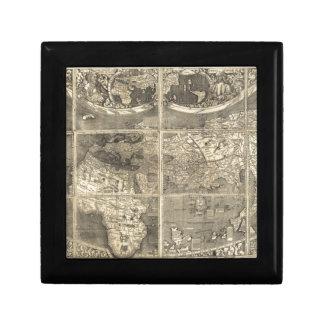 Antique World Map 1507 Trinket Boxes