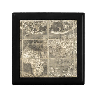 Antique World Map 1507 Small Square Gift Box
