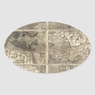 Antique World Map 1507 Stickers