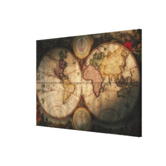 Antique world map 2 canvas print
