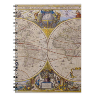 Antique World Map 2 Notebooks