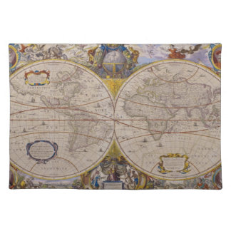 Antique World Map 2 Placemat