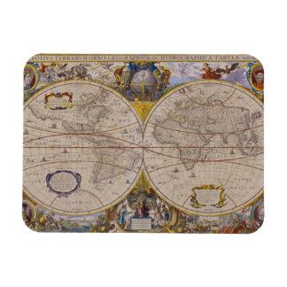 Antique World Map 2 Vinyl Magnet