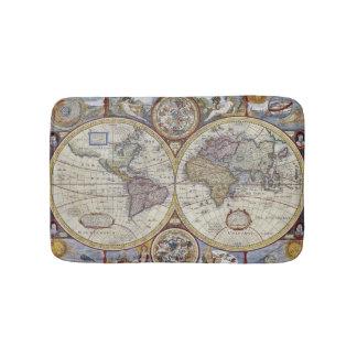 Antique World Map #3 Bath Mat