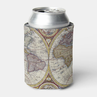 Antique World Map #3 Can Cooler