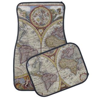Antique World Map #3 Car Mat