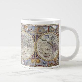 Antique World Map #3 Large Coffee Mug