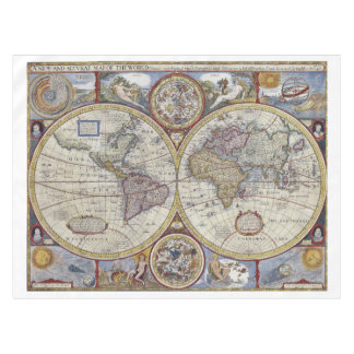 Antique World Map #3 Tablecloth