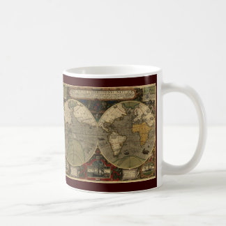 Antique World Map Basic White Mug