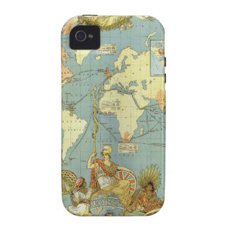 Antique World Map, British Empire, 1886 Vibe iPhone 4 Cover
