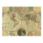 Antique World Map by Carington Bowles, circa 1780