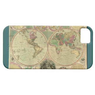 Antique World Map by Carington Bowles, circa 1780 iPhone 5 Cover