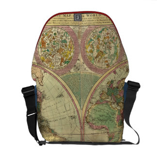 Antique World Map by Carington Bowles, circa 1780 Messenger Bag