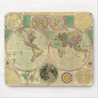 Antique World Map by Carington Bowles, circa 1780 Mouse Mat