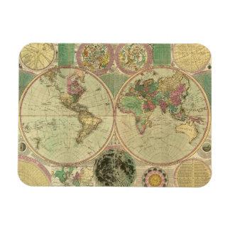 Antique World Map by Carington Bowles, circa 1780 Rectangular Photo Magnet