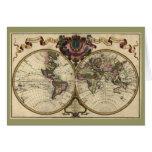 Antique World Map by Guillaume de L'Isle, 1720