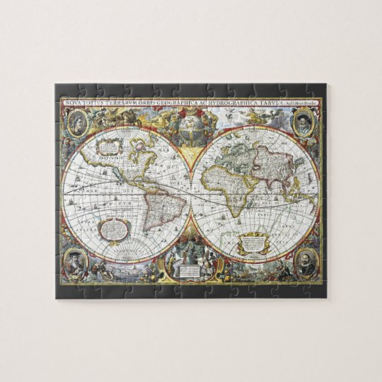 Antique World Map by Hendrik Hondius, 1630 Jigsaw