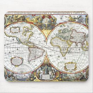Antique World Map by Hendrik Hondius, 1630 Mouse Mat