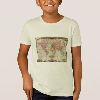 Antique World Map by John Colton, circa 1854 T-Shirt